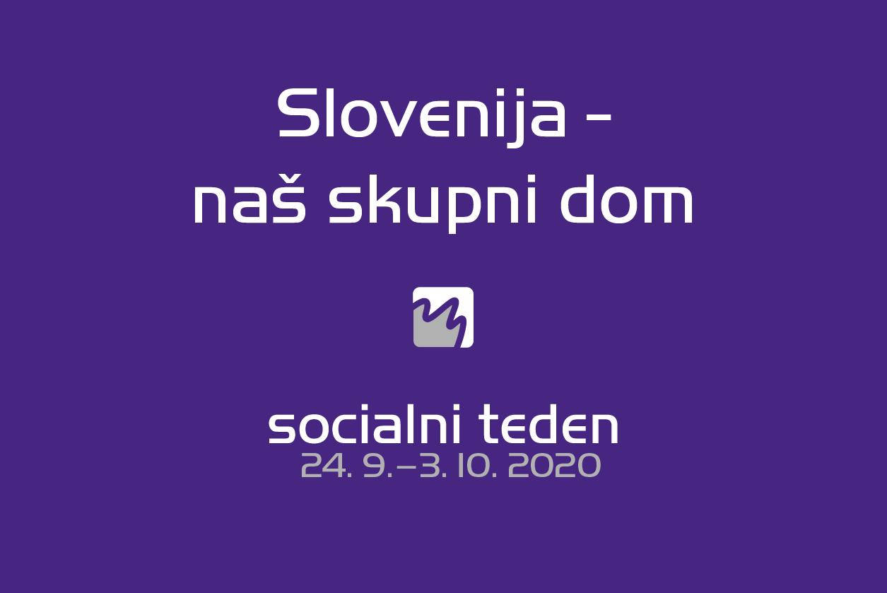 Naslov letošnjega socialnega tedna je Slovenija - naš skupni dom